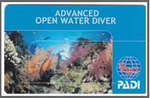 ADVANCED OPEN WATER DIVER ライセンスカード